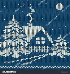 Ideas Knitting Christmas Sweater Cross Stitch For 2019 - Crochet Knitting Charts, Knitting Stitches, Knitting Patterns, Crochet Patterns, Cross Stitching, Cross Stitch Embroidery, Embroidery Patterns, Machine Embroidery, Christmas Knitting