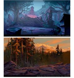 Jungle Book and Brother Bear concept art