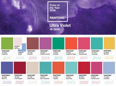 Pantone colors of the years 2000-2018 #pantone #color #history #trend #trendcolor