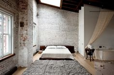 whitewashed nyc loft
