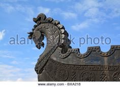 head of the horse on boat - Stock Image