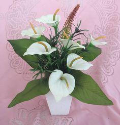 Arranjo Floral Artificial Mini Copo de Leite - 20609339 | enjoei :p
