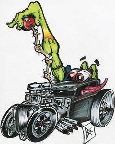 pics of rat rod trucks Car Drawings, Cartoon Drawings, Rockabilly, Ed Roth Art, Cartoon Rat, Cartoons Magazine, Fu Dog, Rat Fink, Garage Art