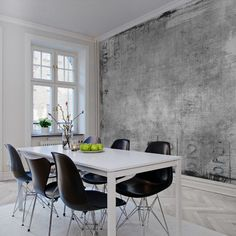 Out for a wall mural for your dining room? We have a wide collection of stunning dining room wall murals. Interior Wallpaper, Unique Wallpaper, Wallpaper Murals, Mural Floral, Floral Wall, Poster Xxl, Dining Chairs, Dining Table, Travel Wall
