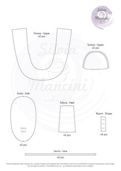 BABY SHOES: template and step by step. - Silvia Mancini