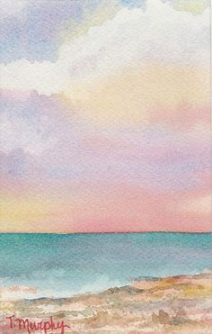 Watercolor on Paper Image Size: 4x6 inches Mat Size: 8x10 inches Placed in a bottoma weighted museum style mat.