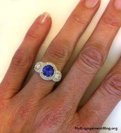 tanzanite engagement ring - My Engagement Ring