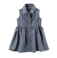 Carter's® Baby Girls' Chambray Shirt Dress