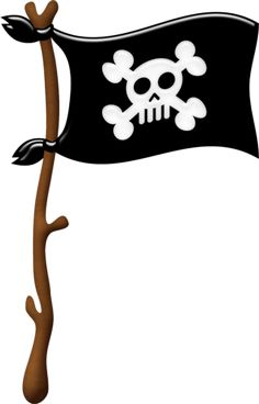 69 best pirate clipart images on pinterest clip art illustrations rh pinterest com  pirate flag clipart black and white