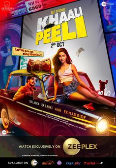 IT'S OFFICIAL... #KhaaliPeeli - starring #IshaanKhatter, #AnanyaPanday and #JaideepAhlawat - to premiere on 2 Oct 2020 on Zee Plex... Directed by Maqbool Khan.