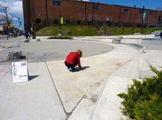 """Water Wuz Here"" | Toronto, Canada | Lynnette Postuma #landscape #temporary #ephemeral"