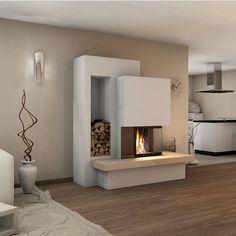 Kaminbausatz Spartherm Varia Kamin Einsatz – – My World Fireplace Kits, Fireplace Inserts, Modern Fireplace, Fireplace Design, Fireplace Furniture, Home Living Room, Living Room Decor, Apartment Living, Built In Bed