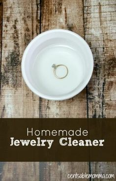 Make your own DIY Homemade Jewelry Cleaner with only 1 ingredient to get your di. - Make your own DIY Homemade Jewelry Cleaner with only 1 ingredient to get your diamond ring sparklin -