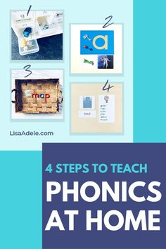 What is phonics & why is it the best way to teach kids to read at home? Learn the 4 steps to teach phonics at home and be sure you're doing everything possible to make learning to read easy and fun so your 3-4 year old is ready for kindergarten. Teaching Reading Preschool Lesson Plans | How to Teach Kids to Read at Home | Learning to Read Activities | Teach Alphabet Phonics | Learn to Read Montessori 3-4 Years | Homeschool Preschool Reading | Teaching Reading at Home | Kindergarten Readiness