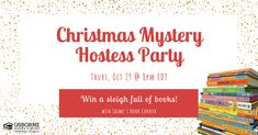 Mystery Hostess Christmas Party! – Jaime's Book Corner Christmas Books, Christmas Shopping, Christmas Fun, Mystery Hostess, Book Corners, Price Book, Party, Parties, Book Nooks