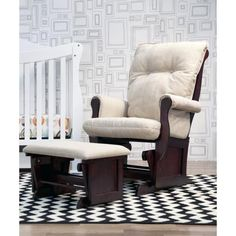 DaVinci Classic Sleigh Glider and Ottoman.... for a baby room YES!!!