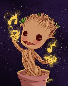 Cute Groot dancing