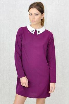 Swing Dress, High Neck Dress, Collection, Dresses, Fashion, Moda, Vestidos, Fashion Styles, Dress