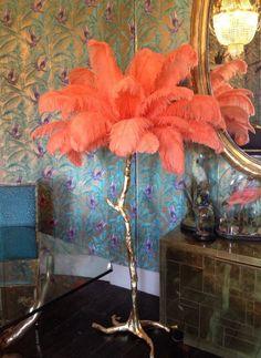 Ostrich palm lamp from a modern grand tour