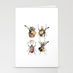 Meet the Beetles Stationery Cards by Eric Fan - $12.00