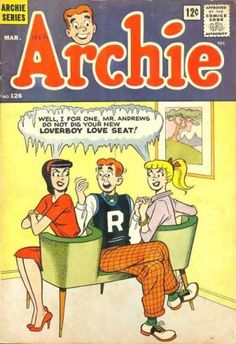 Archie 126, Archie Comic Publications, Inc. https://www.pinterest.com/citygirlpideas/archie/