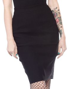 Inked Boutique - Essential Pencil Skirt  (Also available in red or blue!) Retro Vintage Rockabilly Pin Up www.inkedboutique.com