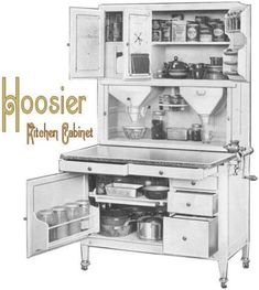Vintage Kitchen Hoosier Kitchen Cabinet Name Plate - Hoosier Cabinet Kitchen Cabinet Remodel, Kitchen Cabinet Styles, New Kitchen Cabinets, Kitchen Cabinet Doors, Kitchen Flooring, Rustic Cabinets, Antique Cabinets, Kitchen Counters, Countertops