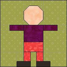 "Quilt-Pro Systems - Quilt-Pro - Block of the Day Boy Elf Block-finished block 4"" x 4"" inches Subscribe today and receive a daily e-mail with your free Block of the Day! The Block of the Day is available to all quilters, regardless of whether you own our software programs.  You can download the Block of the Day as a .pdf file"