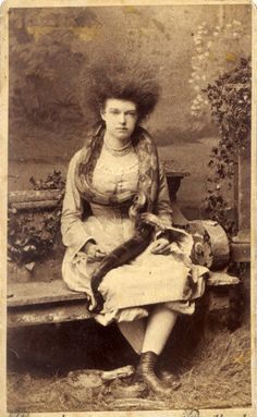 Snake Lady with Big Hair, 1870