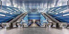 Hamburg Hafencity U-Bahn Überseequartier by Philipp on Bay Area Rapid Transit, Metro Subway, S Bahn, Metro Station, World's Most Beautiful, Design Inspiration, Interior Design, Architecture, Building