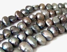 FRESHWATER PEARLS 6mm flat sided potato beads by RiverSongBeads