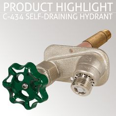 Switch your faucet out today with the PRIER C-434 Self-Draining Residential Wall Hydrant and give yourself peace of mind throughout the harsh winter!