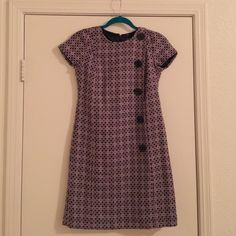 Ann Taylor Mod Dress with Buttons This adorable dress is so cute everyone at the office will work in envy. It features five oversized buttons on front. Worn once! Ann Taylor Dresses