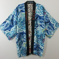 Vintage Short Silk Reversible Kimono Bathrobe Dragon Tiger Waves Clouds One Size Ebay Shopping, Vintage Shorts, Traditional Outfits, Online Price, Japanese Chef, Kimono Top, Clouds, Silk, Best Deals