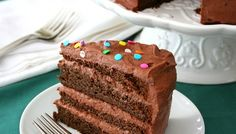 One of our best keto cake recipes, this classic chocolate layer cake with chocolate sour cream frosting is made with almond flour, so it's low carb and gluten-free. Low Carb Sweets, Low Carb Desserts, Just Desserts, Healthier Desserts, Healthy Recipes, Sour Cream Frosting, Sour Cream Cake, Bolos Low Carb, Gluten Free Chocolate Cake