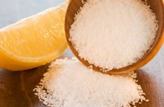 Use citrus and Kosher salt to clean scum off of shower doors