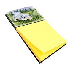 Australian Shepherd Refiillable Sticky Note Holder or Postit Note Dispenser SS8015SN