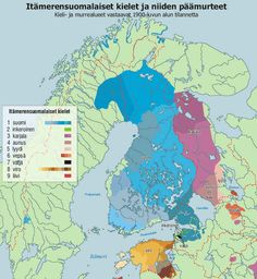 Finnic languages and dialects by 1900