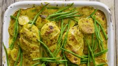 Coconut Chicken and Vegetable Tray Bake Recipe | The Spice Tailor Chicken Vegetable Stew, Chicken And Mushroom Pie, Vegetable Pot Pies, Vegetable Curry, Vegetable Recipes, Coconut Chicken, Basil Chicken, Asian Vegetables, Chicken And Vegetables