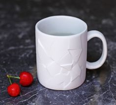 #Broken #Mug. Even though it looks shattered, it safely holds 12 ounces of life-giving caffeinated beverage without any leaks. It's not broke, so don't fix it!