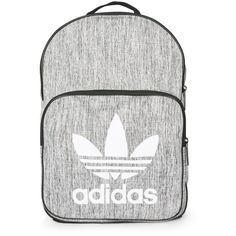 Grey Backpack by Adidas Originals (150 BRL) ❤ liked on Polyvore featuring bags, backpacks, adidas, bolsas, grey, gray bag, grey rucksack, daypack bag, grey backpack and topshop bags