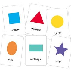 Basic Printable Shapes Flash Cards