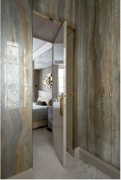 Master Bathroom slab walls - beautiful palate (Jean Louis Deniot)
