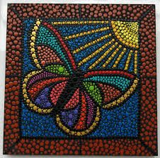 Lotus Painting, Dot Art Painting, Rock Painting Designs, Mandala Painting, Mandala Canvas, Mandala Dots, Mandala Design, Aboriginal Art Symbols, Bottle Top Art