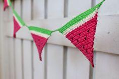 DIY Watermelon Crochet Bunting