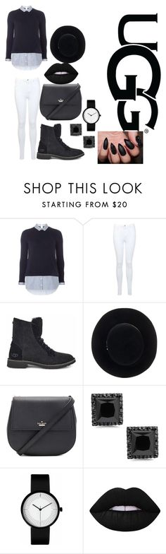 """""""The New Classics With UGG: Contest Entry"""" by berryb431 ❤ liked on Polyvore featuring Dorothy Perkins, Miss Selfridge, UGG, Eugenia Kim, Kate Spade, Lime Crime and ugg"""