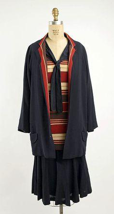 Ensemble  Nellie Harrington, 1928  The Metropolitan Museum of Art-- These little suits are so cute.  Versatile.  Timeless?