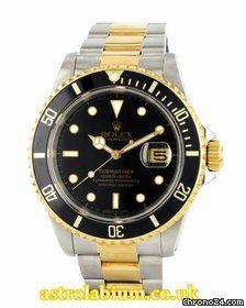 Rolex Black Submariner Steel & Gold 16613
