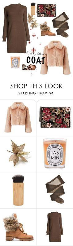 """Teddy bear coat"" by tam-a-lam ❤ liked on Polyvore featuring Miss Selfridge, MANGO, Diptyque, tarte and Alexandre Birman"