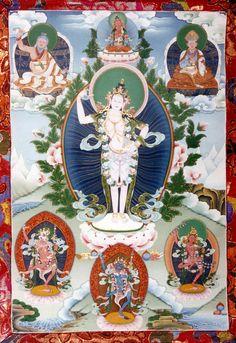 Yeshe Tsogyal - Lama Yeshe Nyima thanka